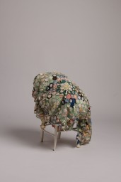 Zilpha (2018)- found chair, Toy Stuffing, 1930s Patchwork